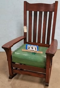 Vintage Labeled Oak Mission Rocker