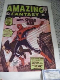 Spider Mans Amazing Fantasy comic  cover on canvas
