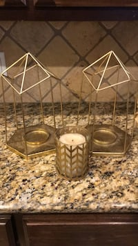 two brown metal candle holders Odessa, 79762