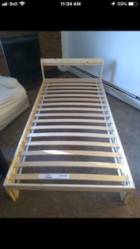 brown and white wooden bed frame Edmonton, T6C 2B8
