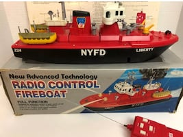 Vintage TOYCO Radio Control FDNY Fireboat - FULLY FUNCTIONAL