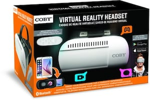 Coby 3D VR Glasses Virtual Reality Headset & Wireless Remote