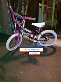 toddler's purple and white bicycle Saint Charles, 63303
