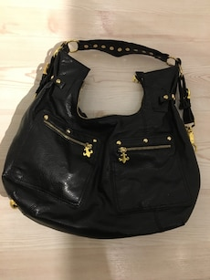 women's black leather hobo bag