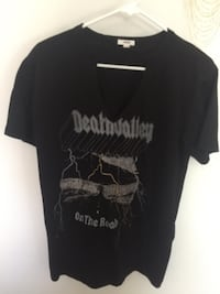 black Death Valley On The Road graphic V-neck t-shirt Surrey
