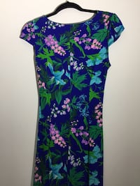 Blue and green floral bodycon dress NEW! Columbia, 21045