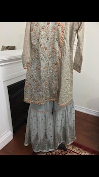 women's white and brown floral dress Toronto, M1L 0H4