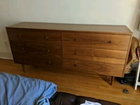 brown wooden 6-drawer dresser Washington, 20001