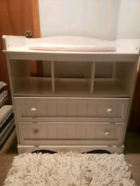 White dresser w/removable optio of changing table  Chicago, 60619