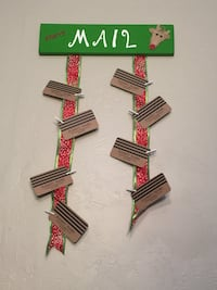 "Handmade Wooden ""Merry Mail"" Wall Decoration Vail, 85641"