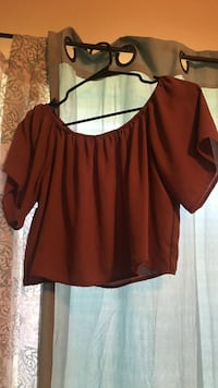 women's brown scoop-neck blouse Midwest City, 73110