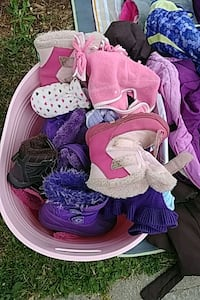 Bin of winter boots and hats Vaughan, L4J 0C3