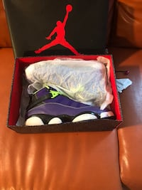 Pair of purple Jordan's  basketball shoes with box Louisville, 40258