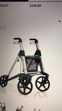 black and red push cart null