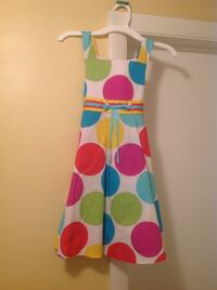 pink white and green sleeveless dress by Bonnie Jean size 7 New Port Richey, 34652