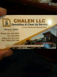 Demolition and clean up services ect Newark, 07108