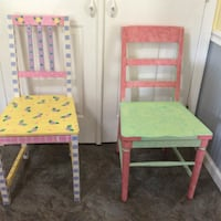 Wood chairs, painted, one of a kind Woodbridge, 22192