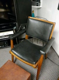 1963 original krug chair leather wood