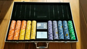 500 Piece Poker Chip Set with Carrying Case