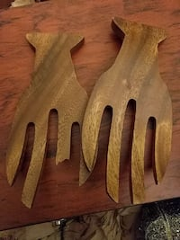 two brown wooden fork wall plaques Tysons, 22102