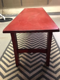 Rectangular red wooden coffee table West Des Moines, 50265
