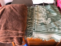 Blanket and throw.  Clean and in excellent condition. Will drop off London, N5Y 4A6