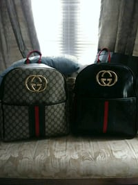 two black and red leather bags Charlotte, 28269