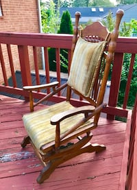 Classic Antique Solid Oak Rocking Chair Falls Church, 22046