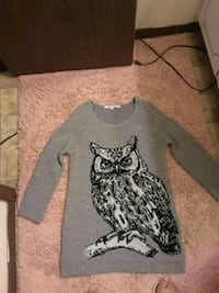 A gray sweater with an owl 251 mi