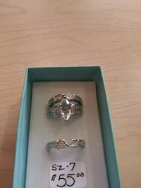 3pc set white goldfilled sz7  Albuquerque, 87123