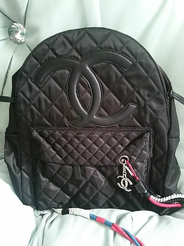 062dc96e3b23 Used quilted black Chanel backpack for sale in San Jose - letgo