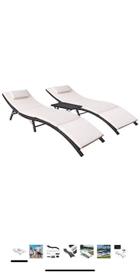 Brand New 3Pcs Outdoor Lounge Chair Patio Chaise Lounge Sets