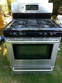 silver-steel and black gas range oven Portland, 97225