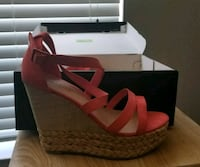 pair of red open toe wedge sandals Mansfield, 76063