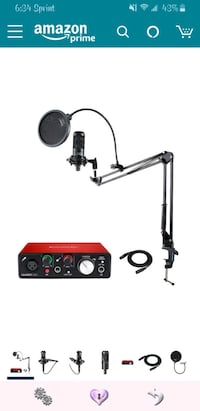 Audio Technica AT2035 Microphone with Focusrite Sc Knoxville