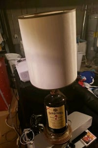 Vintage Seagram's alcohol lamp