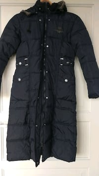 Hooded down jacket size s