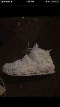 All white nike uptempo  Bowie, 20721