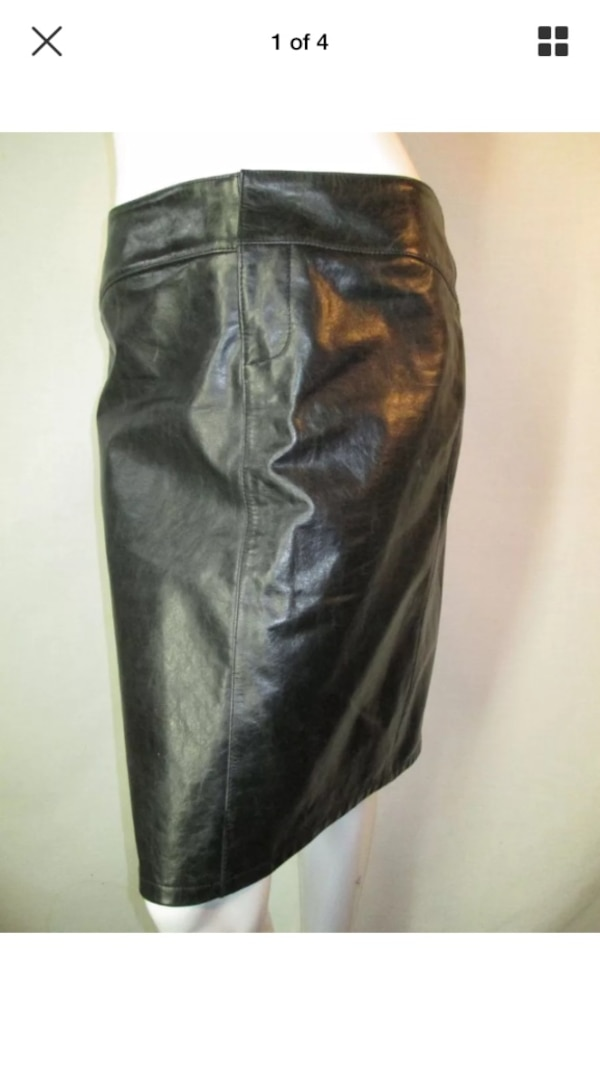 Gap size 4 distressed gray leather pencil skirt.