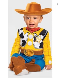 Disguise Disney Toy Story 4 Sheriff Woody Deluxe Infants Costume Mastic, 11950