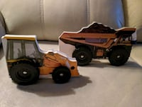 Digger and Dump Truck Board Books with Functional Wheels BN Oakville, L6M