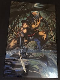 Wood mounted Wolverine Poster Bolton