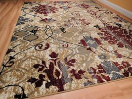 Red NEW Floral Rugs 5x8 area rug red tan