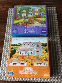 2 Hometown Collection 1000pc Mega Puzzles