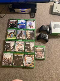 Xbox 1 with controllers