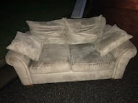 White suede 2-seat sofa Roanoke