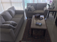 gray fabric sofa set with throw pillows FORTLAUDERDALE