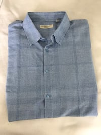 Blue Burberry button-up shirt