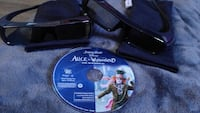 Two sony 3d glasses& 3d Alice in Wonderland
