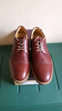 Johnston and Murphy,  tobacco brown  leather shoe. Clinton, 20735
